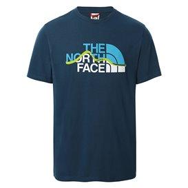 The North Face Mountain Line Tee Herren T-Shirt Kurzarmshirt monterey blue