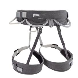 Petzl Corax Klettergurt zum Sportklettern und Bergsteigen grau 1