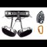 Petzl Kit Corax Grigri Sm'D 1 Klettergurt mit Sicherrungsgerät und Karabiner grau