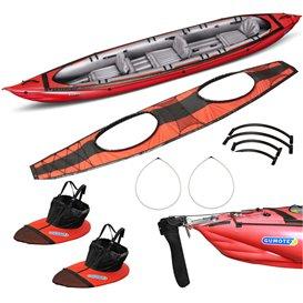 Gumotex Seawave Kajak Set mit Sitz Spritzschürzen Spritzdecke und Steueranlage