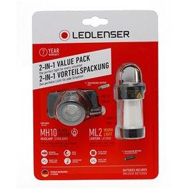 Ledlenser Stirnlampe MH10 mit ML2 Warm Light Laterne Vorteils Set hier im Ledlenser-Shop günstig online bestellen