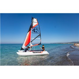 MiniCat 420 Emotion aufblasbarer Katamaran Segelboot