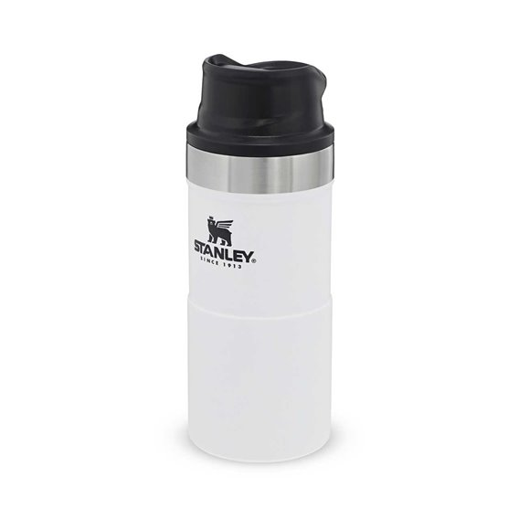 Stanley Classic Trigger Action Travel Mug 0,354l Thermobecher Trinkbecher weiß