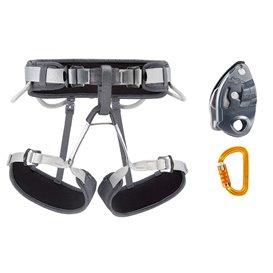 Petzl Kit Corax Grigri SMD TL 1 Klettergurt mit Sicherrungsgerät und Karabiner
