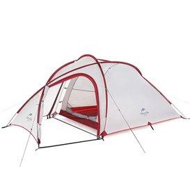 Naturehike Hiby SI 2-3 Personen Zelt Kuppelzelt Trekkingzelt grey-red