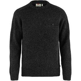 Fjällräven Lada Round-Neck Sweater Herren Strickpullover black