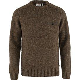 Fjällräven Lada Round-Neck Sweater Herren Strickpullover bogwood brown