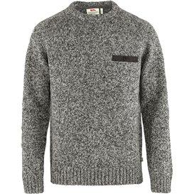Fjällräven Lada Round-Neck Sweater Herren Strickpullover grey