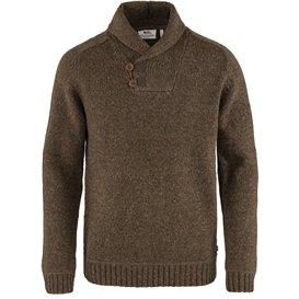 Fjällräven Lada Sweater Herren Strickpullover bogwood brown