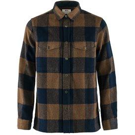 Fjällräven Canada Shirt Herren Langarmhemd Freizeithemd chestnut-dark navy