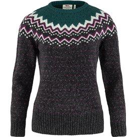 Fjällräven Övik Knit Sweater Damen Strickpullover Wollpullover arctic green