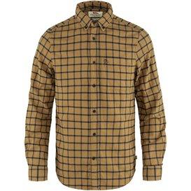 Fjällräven Övik Flannel Shirt Herren Freizeithemd Langarmhemd buckwheat brown-dark navy