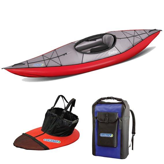 Gumotex Swing I SET 1er Kajak Luftboot Schlauchkajak Nitrilon mit Packsack + Spritzschürze