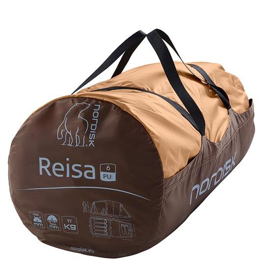 Nordisk Reisa 6 PU Gruppen Tunnelzelt für 1-6 Personen cashew-brown hier im Nordisk-Shop günstig online bestellen