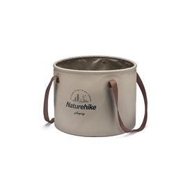 Naturehike Round Bucket faltbares Waschbecken Wasserbehälter light brown