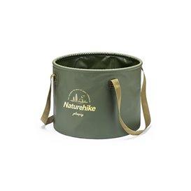 Naturehike Round Bucket faltbares Waschbecken Wasserbehälter army green
