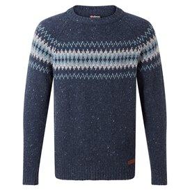 Sherpa Dumji Crew Sweater Herren Pullover Strickpullover rathee blue