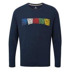 Sherpa Tarcho Long Sleeve Tee Herren Langarmshirt rathee blue
