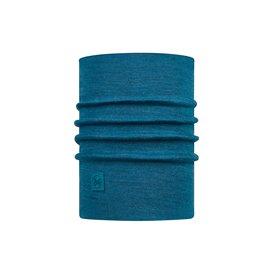 Buff Heavyweight Merino Wool Schal Schlauchschal solid dusty blue