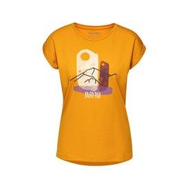 Mammut Mountain T-Shirt Damen Kurzarmshirt Print 2 golden