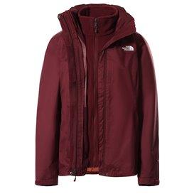 The North Face Evolve II Triclimate Jacket Damen 3 in 1 Winterjacke Doppeljacke regal red