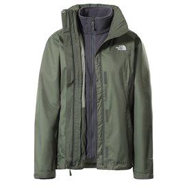 The North Face Evolve II Triclimate Jacket Damen 3 in 1 Winterjacke Doppeljacke thyme-grey