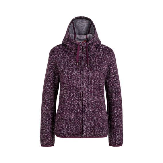 Mammut Chamuera ML Hooded Jacket Damen Fleecejacke grape hier im Mammut-Shop günstig online bestellen
