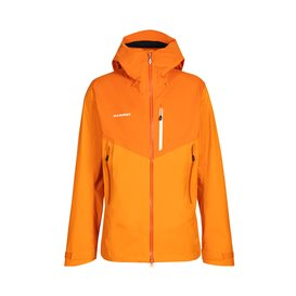 Mammut Kento HS Hooded Jacket Herren Hardshelljacke Regenjacke dark radiant-dark cheddar hier im Mammut-Shop günstig online best