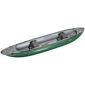 Gumotex Palava 2er Kanadier TESTBOOT Schlauchboot Trekking Kanu grün