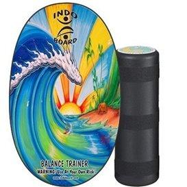 Indoboard Original Bamboo Beach Balancetrainer inkl. Rolle