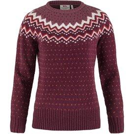 Fjällräven Övik Knit Sweater Damen Pullover Wollpullover dark garnet