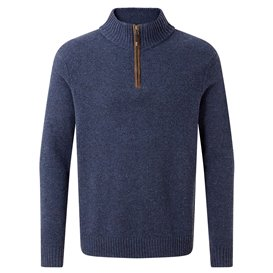 Sherpa Kangtega Quarter Zip Swe Herren Pullover Strickpullover rathee blue hier im Sherpa-Shop günstig online bestellen