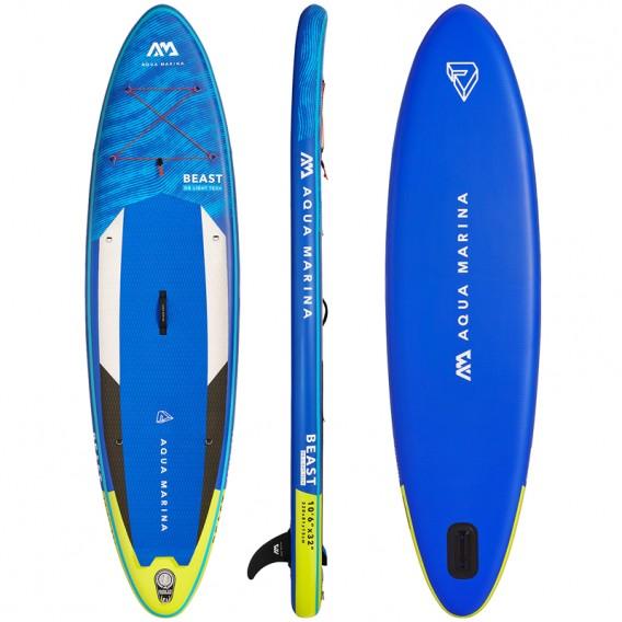 Aqua Marina Beast 10.6 TESTMODELL aufblasbares Stand Up Paddle Board SUP komplett Set hier im Aqua Marina-Shop günstig online be