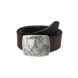 Fjällräven Murena Silver Belt Ledergürtel mit Silberschnalle brown