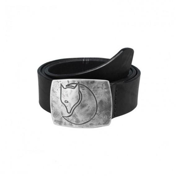 Fjällräven Murena Silver Belt Ledergürtel mit Silberschnalle black im ARTS-Outdoors Fjällräven-Online-Shop günstig bestellen