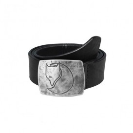 Fjällräven Murena Silver Belt Ledergürtel mit Silberschnalle black