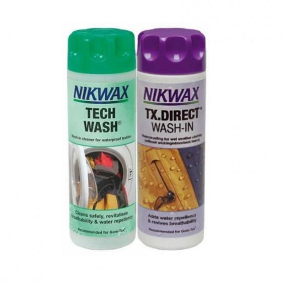 Nikwax Tech Wash & TX Direct Wash Reinigungsmittel und Imprägnierung 2x300 ml hier im Vaude-Shop günstig online bestellen