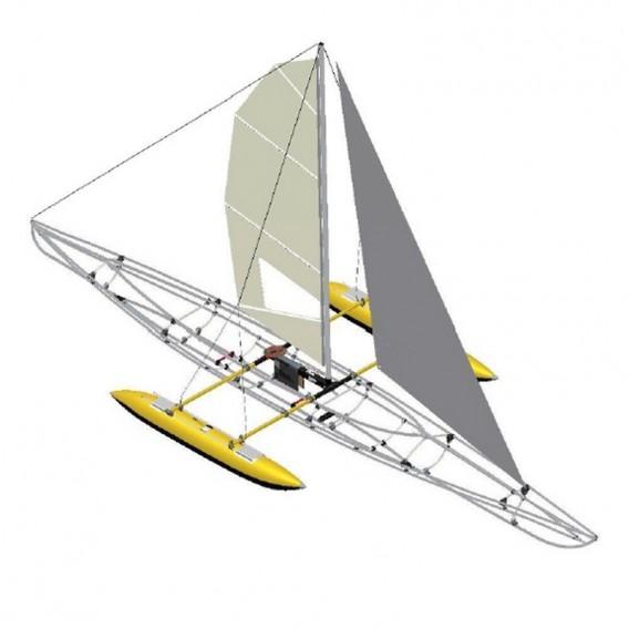 Triton Besegelung Mehrsitzer / Segel Vorsegel inkl. Auslegersystem hier im Triton-Shop günstig online bestellen