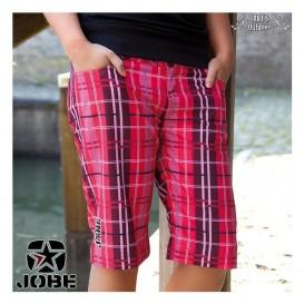 Jobe Walkshort Damen Boardshorts Badehose pink kariert hier im Jobe-Shop günstig online bestellen