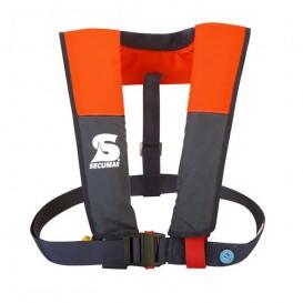 Secumar Vivo 100N aufblasbare Rettungsweste Paddelweste blau orange