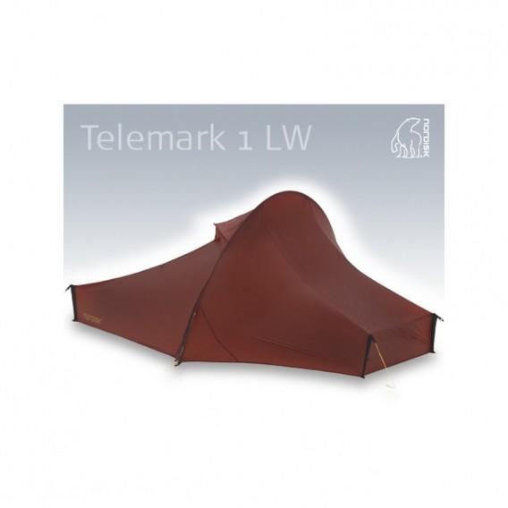 Nordisk Telemark 1 LW SI Tent leichtes Trekking Zelt 1 Person burnt red im ARTS-Outdoors Nordisk-Online-Shop günstig bestellen