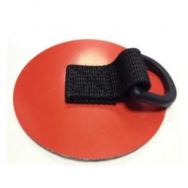 Gumotex D-Ring 80mm Beschlag zum Aufkleben rot