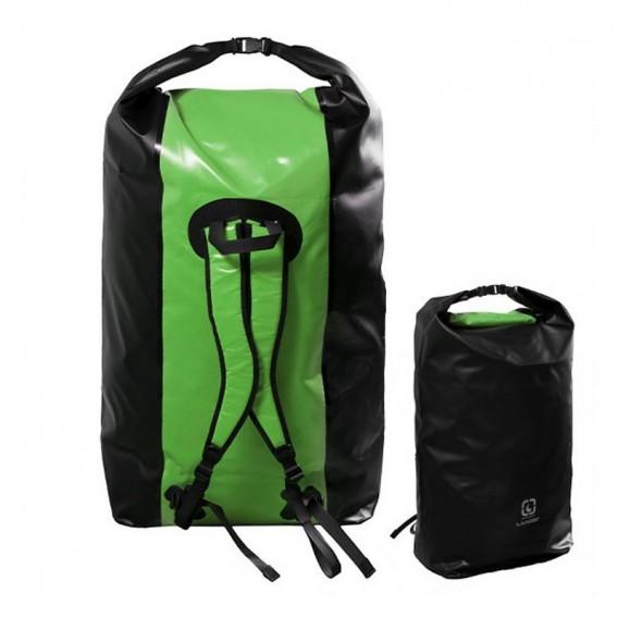 Langer Packsack Rucksack Seesack grün-schwarz 180 Liter im ARTS-Outdoors Langer-Online-Shop günstig bestellen
