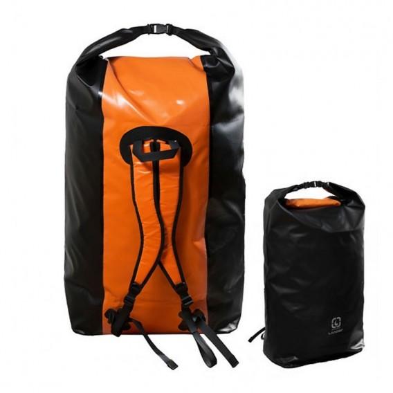 Langer Packsack Rucksack Seesack orange-schwarz 180 Liter im ARTS-Outdoors Langer-Online-Shop günstig bestellen