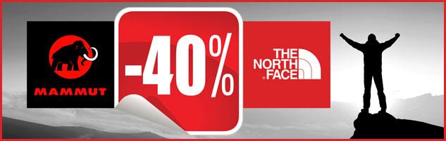 40% Rabatt auf Mammut und The North Face Bekleidung Schuhe Ausrüstung im Sale